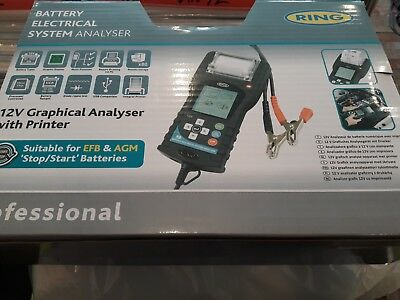 RING AUTOMOTIVE RBAG700 Graphical Battery Analyser c/w Printer, 12 V