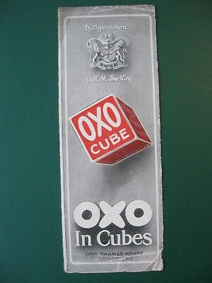 Antique Bookmark OXO CUBE Appointment to HM the King advertising book mark