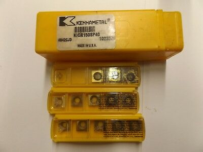 "Kennametal  KICR150SP40  Center Cutting Indexable End Mill 1.5"" DIA +13 Inserts"