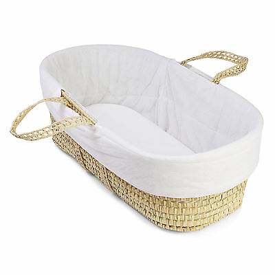 New 4Baby White Replacement Cover For Moses Baskets - Increases Comfort