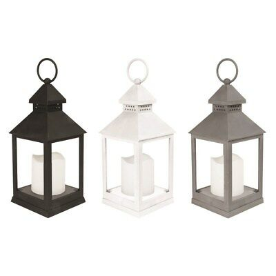 Ambient LED Flickering Candle Flame Less Lantern Free Stand Indoor Hanging Décor