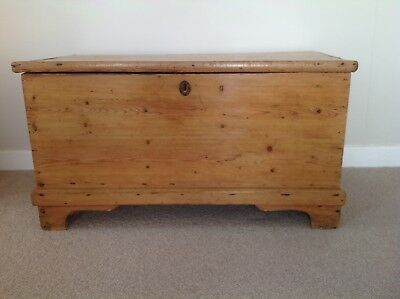 Good Quality Victorian Pine Blanket Box / Chest / Coffer /coffee Table /