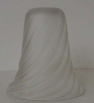 Frosted Glass Spiral Pattern Lampshade Original Vintage Period