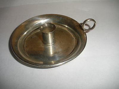 Vintage lunt sterling silver small chamberstick  candle holder