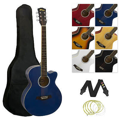 Tiger Full Size Beginners  Acoustic Guitar Package, Bag, Strap & Strings - Blue
