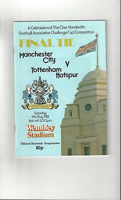 Manchester City v Tottenham Hotspur FA Cup Final 1981 Football Programme