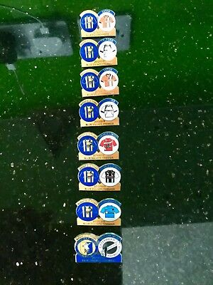 Collection of 8 Mansfield Town Football Club Enamel Match Badges Great Quality