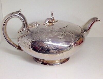 Amazing Ornate Victorian Greyhound / whippet Silver Tea Pot by Elkington