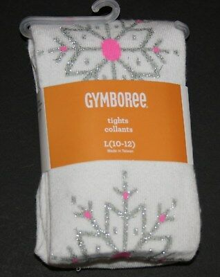 New Gymboree Ivory Glitter Snowflake Knit Tights NWT 12-24M 4 7 8 10 12 Yr Girls
