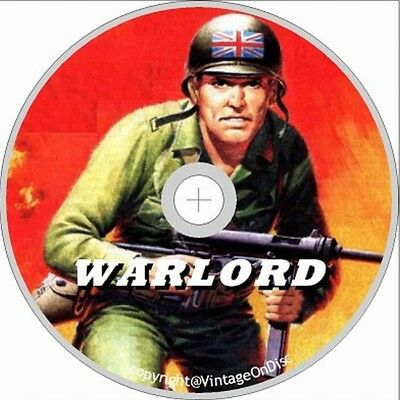 Warlord Comics UK WAR 500 Issues + books for boys and summer special on Dvd Rom