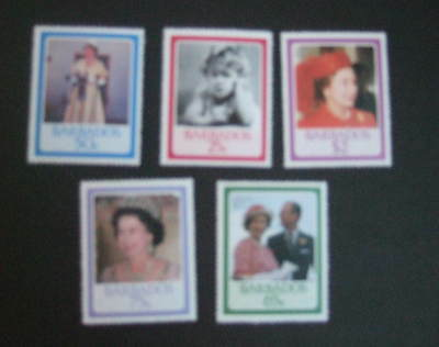 Barbados 1986 Royal Queen's 60th Birthday UM MNH unmounted mint never hinged