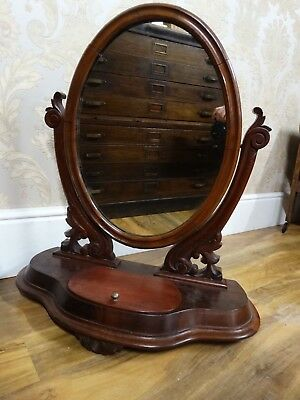 Fabulous antique Victorian extra large dressing Table top mirror. loo mirror