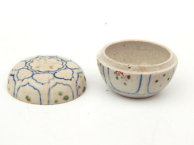 15th C. Antique Chinese Ming Dynasty Blue White Hoi An Hoard Paste Box