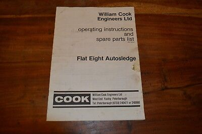 Cooks Flat 8 Autosledge Operators Manual & Parts book (2)