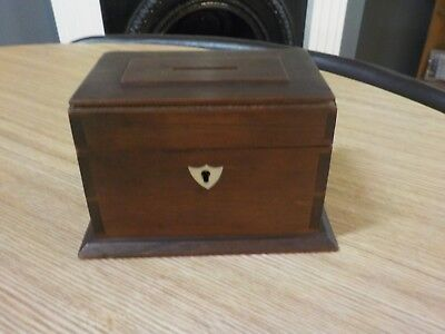 Nice Antique Vintage Small Box Collectable  Woodwareold Collection Money Box