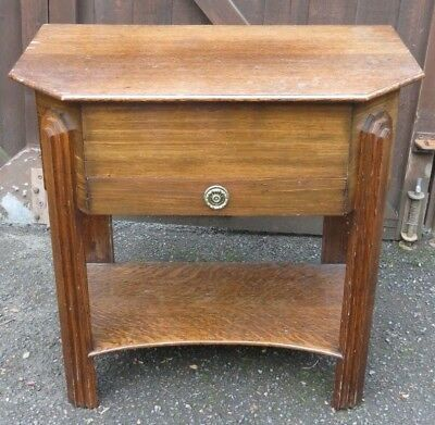 Art Deco style sewing table box Lined Oak Hall bedside ideal paint shabby chic