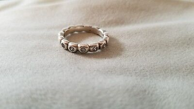 74a7227ab RETIRED!! AUTHENTIC PANDORA Stacker Ring size 7.5 Sterling Silver ...