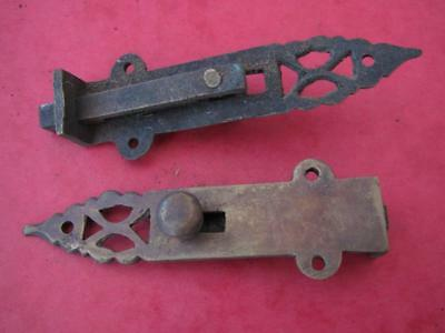 Pair of decorative brass bolts