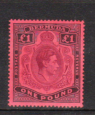 BERMUDA. 1938. GVI £1 PURPLE & BLACK/red DEFINITIVE. p.14. VLMM. Sg.121. .£275