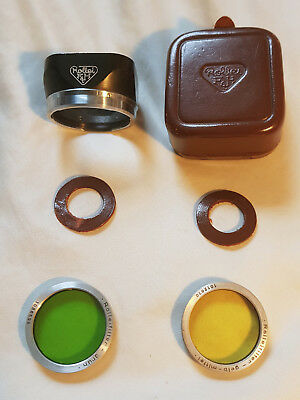 rolleiflex rollei F & H filter set with Lens Hood TLR Vintage Green Yellow film