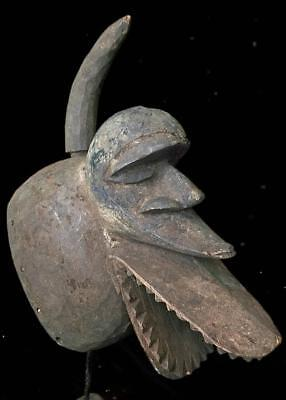 Old   Tribal Senufo (Kalao)  Mask With a removable horn     --  Burkina Faso