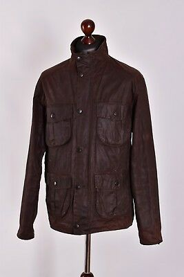 Men's Barbour New Utility Waxed Field Jacket Size M Genuine