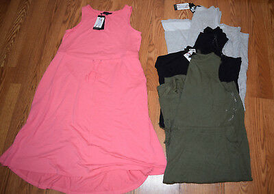 NWT Womens THE LIMITED Gray Black Olive Pink Drawstring Waist Casual Dress