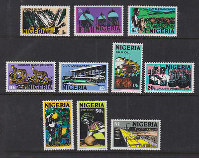 Nigeria 1973 Mint MNH Set Definitives 10 values Industry Bridge Health Gas Game