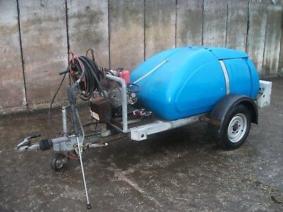 Towable pressure washer water bowser high pressure cleaner