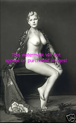 Old VINTAGE Antique EXOTIC FRENCH NUDE Photo Reprint
