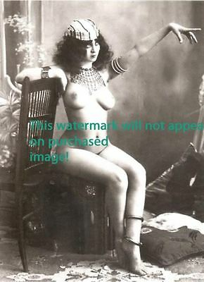 Old VINTAGE Antique FRENCH NUDE BIG BUTT Photo Reprint