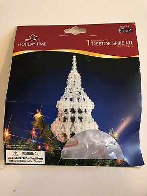 Holiday Time Treetop Spire Kit Beaded Christmas Ornament Kit