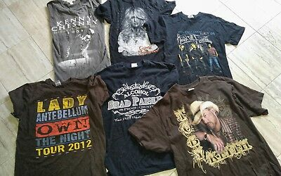 Lot of 6 Country Artist Tour T Shirts