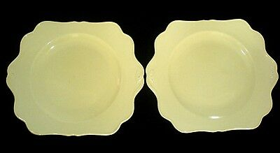 Crown Ducal Cream  10 in Square 2 Eared Cake Plates x 2