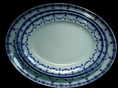 Losal Ware Keeling & Co Ltd Blue/White Brighton 3 x Plate/Platters  c1930's
