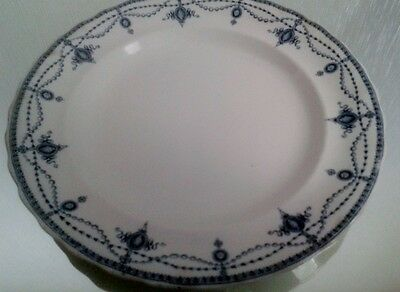 Losal Ware Keeling & Co Ltd Blue / White 9 ½ inch Plates x 5 - 1914/15