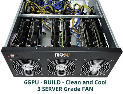 6 GPU Nvidia GTX1060 6GB Crypto mining NiceHash HIGH Profit - 4U Server IN STOCK
