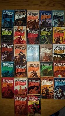 Huge Lot Of 64 Doc Savage Vintage Books By Kenneth Robeson Some Double Issue