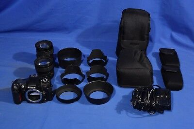 LOT of Nikon Lenses, Nikon Lens Hoods, Nikon Cases/Pouches, Nikon Body #L3667BP