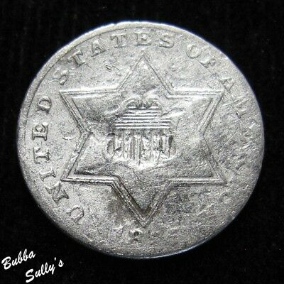 1855 III Cent Silver <> VF Details