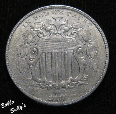 1867 No Rays Shield Nickel <> EXTREMELY FINE
