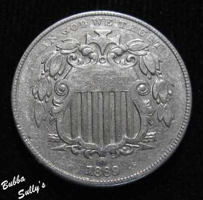 1869 Shield Nickel <> EXTREMELY FINE