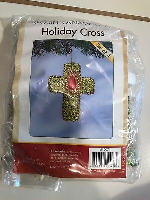 Herrschners Holiday Cross Beaded Easter/ Christmas Ornament Kit