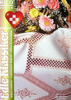 Rico Design Embroidery Book No.46 - HARDANGER - 17 Patterns + Instructions - LN