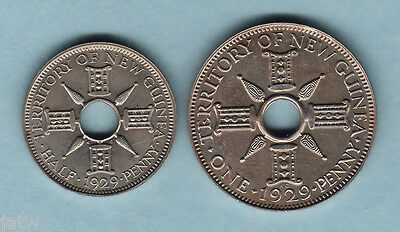New Guinea. 1929 Halfpenny & Penny - Proof Pair..  aFDC