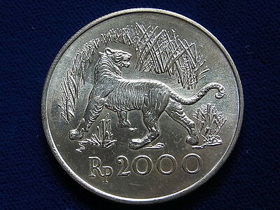 Indonesia. 1974 2000 Rupiah.. Conservation Series - Javan Tiger.. BU