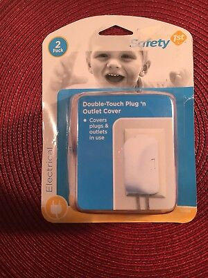 Safety 1st Double Touch Plug & Outlet Cover  2 Outlet Covers Baby Infant Kids