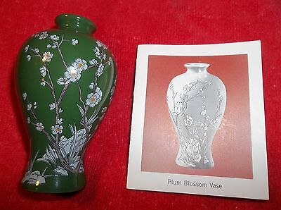 Mini Chinese Imperial Dynasties Plum Blossom Vase Franklin Mint 1980 Porcelain