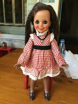 """Ooak Vintage Long Hair Crissy Doll- """"mia' Doll Is Usually Only In White Not Dark"""