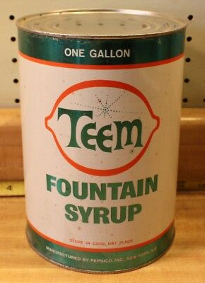 Teem Foutain Syrup Can